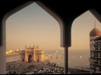 A view of the Gateway of India from the Taj Hotel